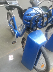 Bike with helmet