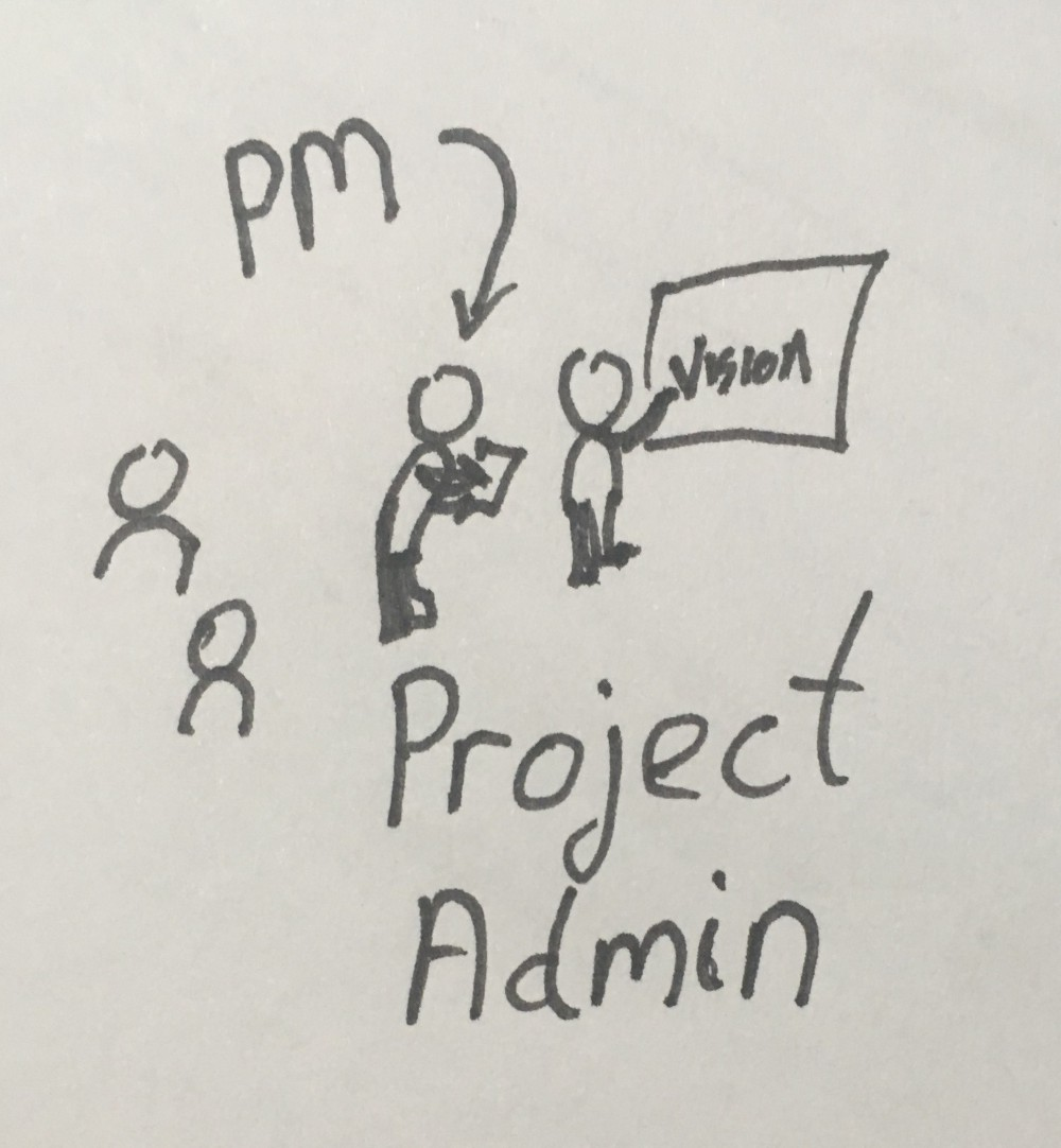 PM as project adming